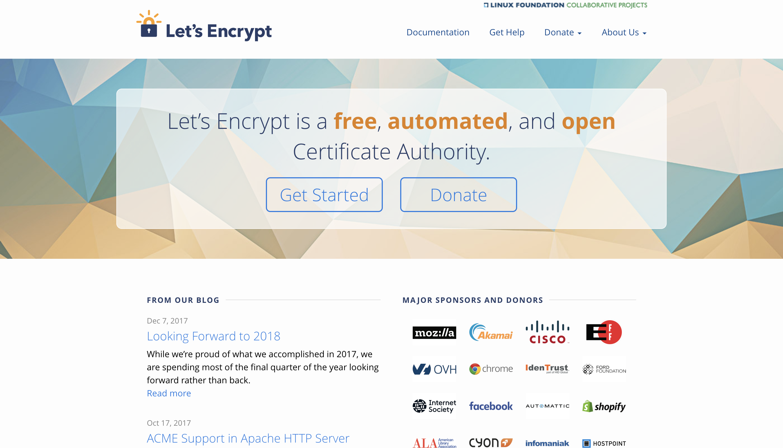 Let's Encrypt ホームページ