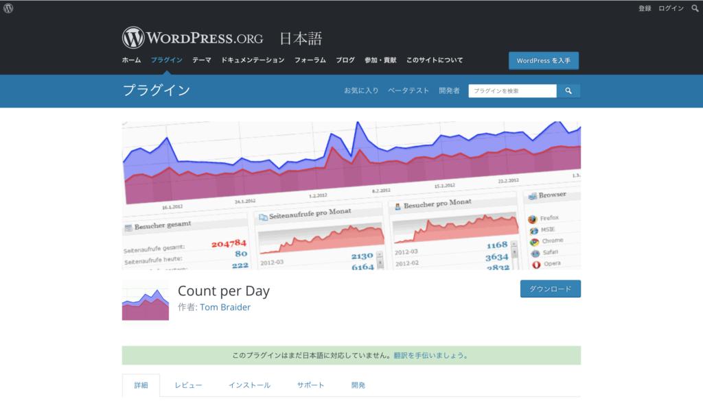 Count per Dayのプラグインページ