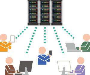 サーバーとクライアント間の転送イメージ